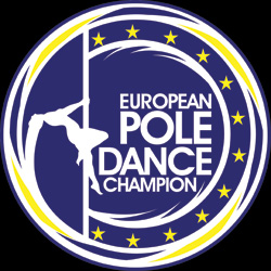 Logo of european pole dance champion competition