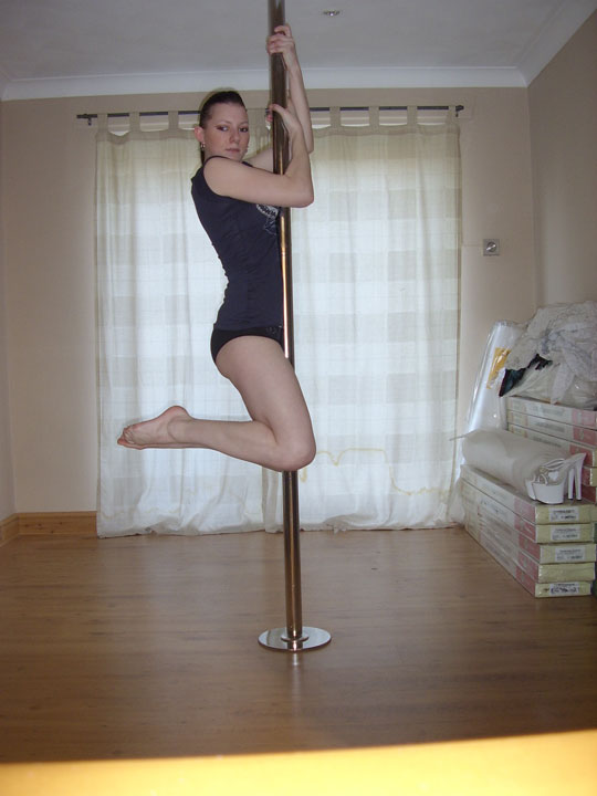 Jump and slide pole dancing exercise