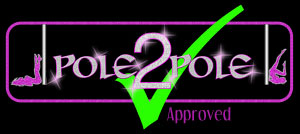 Pole2Pole Pole Dancing Approved Logo